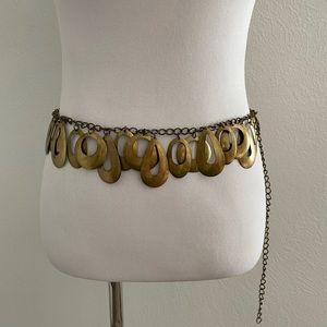 *Vintage Boho Dangle Chain Link Belt Adjustable M